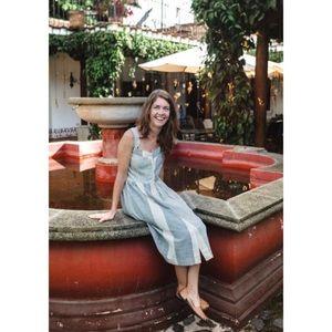 Last ☝️ Handwoven Fair Trade Cotton Midi Mia Dress